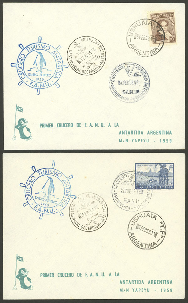 Lot 13 - argentine antarctica postal history -  Guillermo Jalil - Philatino Auction # 2128 ARGENTINA: 'Clearance' auction with very low starts and many interesting lots!