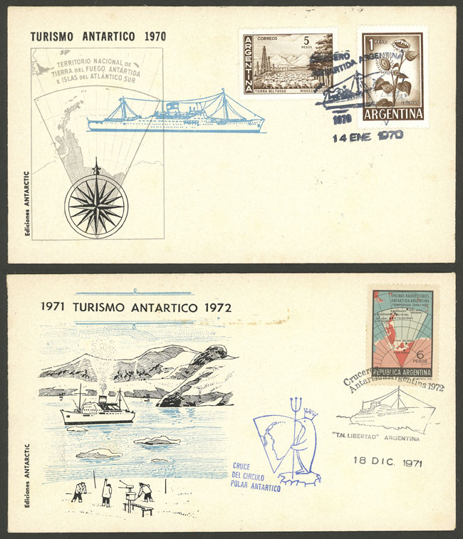 Lot 34 - argentine antarctica postal history -  Guillermo Jalil - Philatino Auction # 2128 ARGENTINA: 'Clearance' auction with very low starts and many interesting lots!