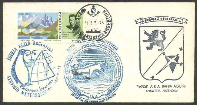 Lot 5 - argentine antarctica postal history -  Guillermo Jalil - Philatino Auction # 2128 ARGENTINA: 'Clearance' auction with very low starts and many interesting lots!