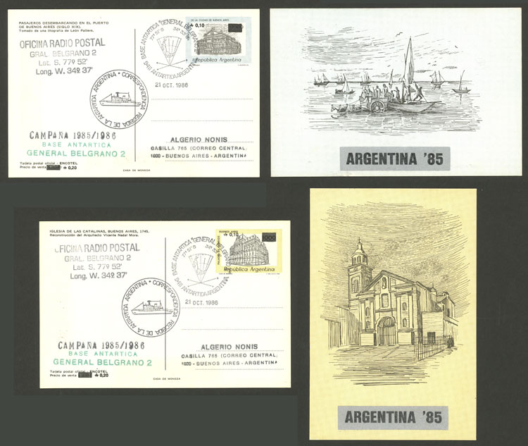 Lot 4 - argentina antarctica Postal stationery -  Guillermo Jalil - Philatino Auction # 2128 ARGENTINA: 'Clearance' auction with very low starts and many interesting lots!