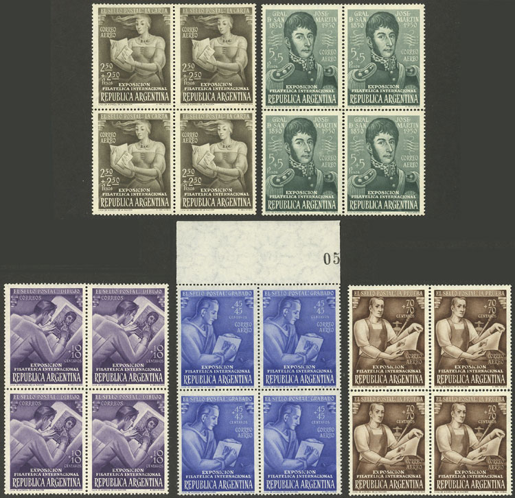 Lot 929 - Argentina general issues -  Guillermo Jalil - Philatino Auction # 2128 ARGENTINA: 'Clearance' auction with very low starts and many interesting lots!