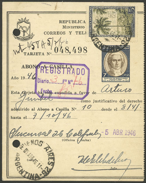 Lot 1985 - Argentina Postal stationery -  Guillermo Jalil - Philatino Auction # 2128 ARGENTINA: 'Clearance' auction with very low starts and many interesting lots!