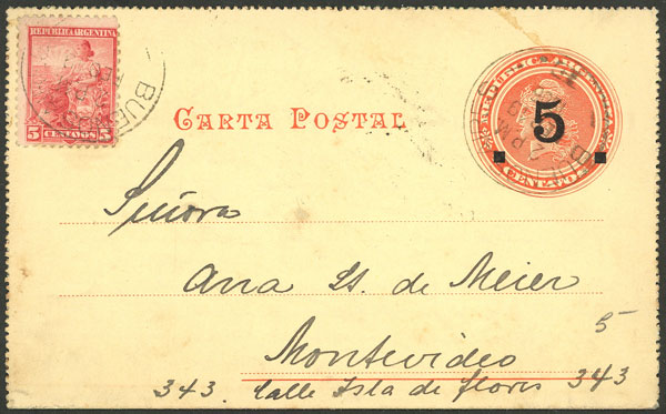 Lot 1996 - Argentina Postal stationery -  Guillermo Jalil - Philatino Auction # 2128 ARGENTINA: 'Clearance' auction with very low starts and many interesting lots!