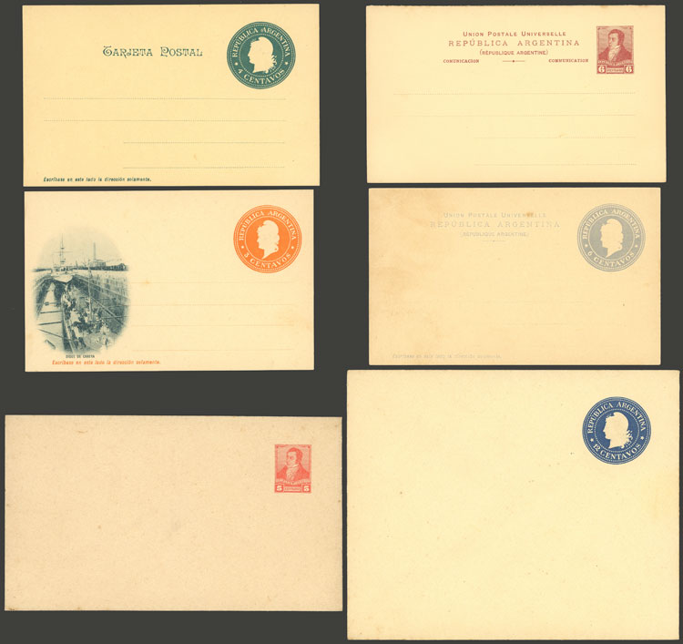 Lot 2044 - Argentina Postal stationery -  Guillermo Jalil - Philatino Auction # 2128 ARGENTINA: 'Clearance' auction with very low starts and many interesting lots!