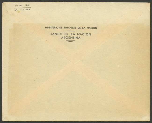 Lot 2119 - Argentina postal history -  Guillermo Jalil - Philatino Auction # 2128 ARGENTINA: 'Clearance' auction with very low starts and many interesting lots!