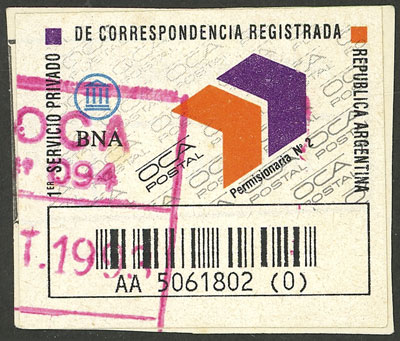 Lot 1974 - Argentina private posts -  Guillermo Jalil - Philatino Auction # 2128 ARGENTINA: 'Clearance' auction with very low starts and many interesting lots!