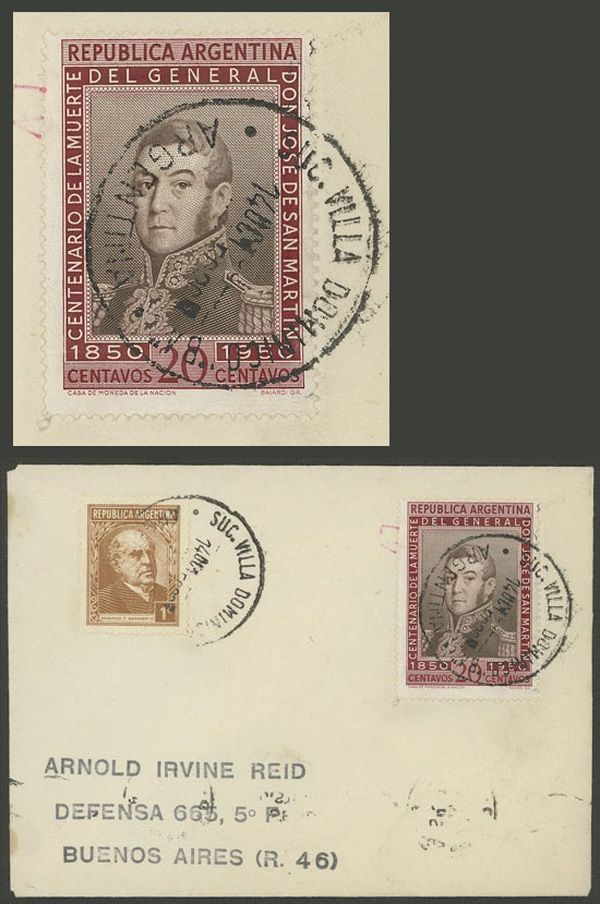 Lot 2110 - Argentina postal history -  Guillermo Jalil - Philatino Auction # 2128 ARGENTINA: 'Clearance' auction with very low starts and many interesting lots!