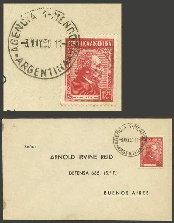 Lot 2103 - Argentina postal history -  Guillermo Jalil - Philatino Auction # 2128 ARGENTINA: 'Clearance' auction with very low starts and many interesting lots!