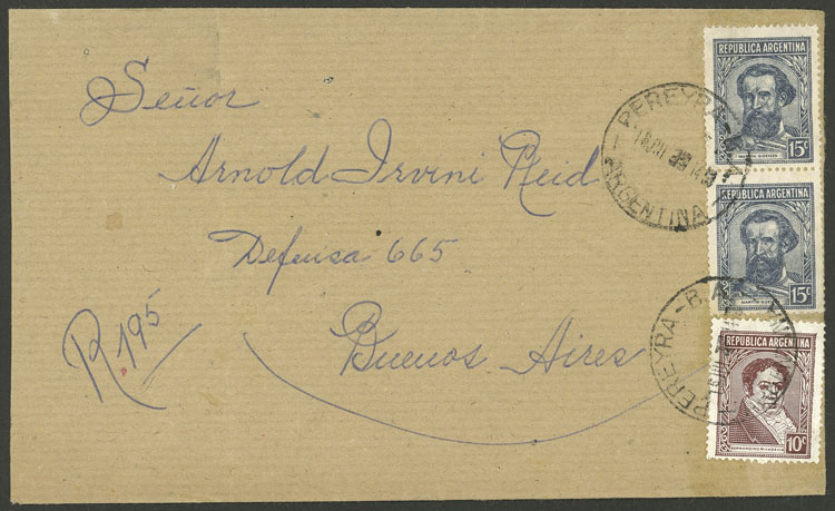 Lot 2106 - Argentina postal history -  Guillermo Jalil - Philatino Auction # 2128 ARGENTINA: 'Clearance' auction with very low starts and many interesting lots!