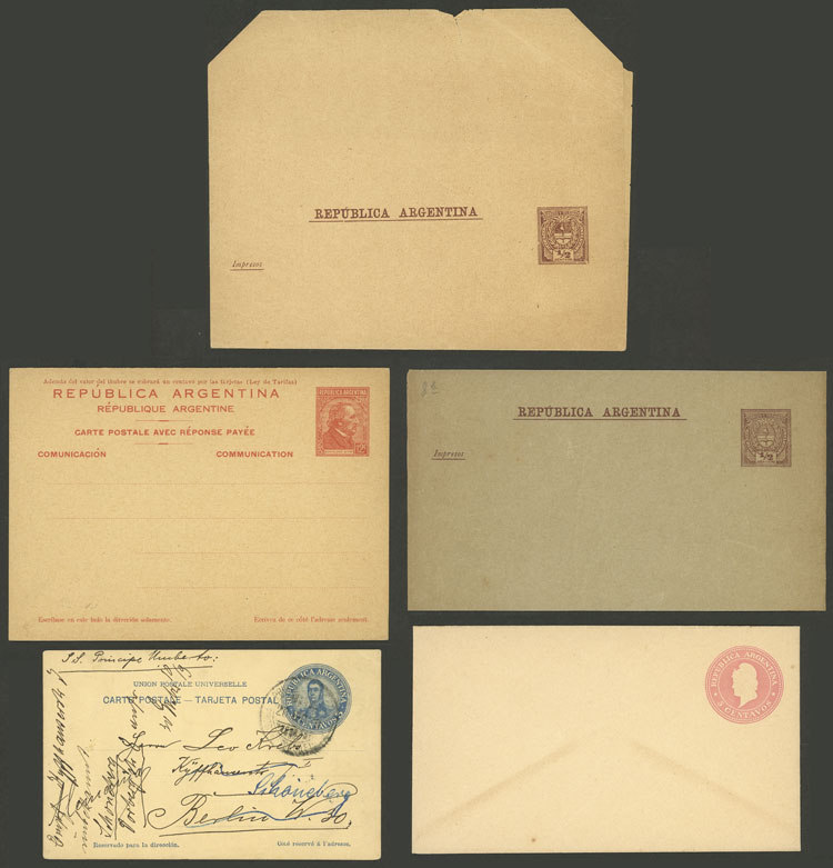 Lot 2045 - Argentina Postal stationery -  Guillermo Jalil - Philatino Auction # 2128 ARGENTINA: 'Clearance' auction with very low starts and many interesting lots!