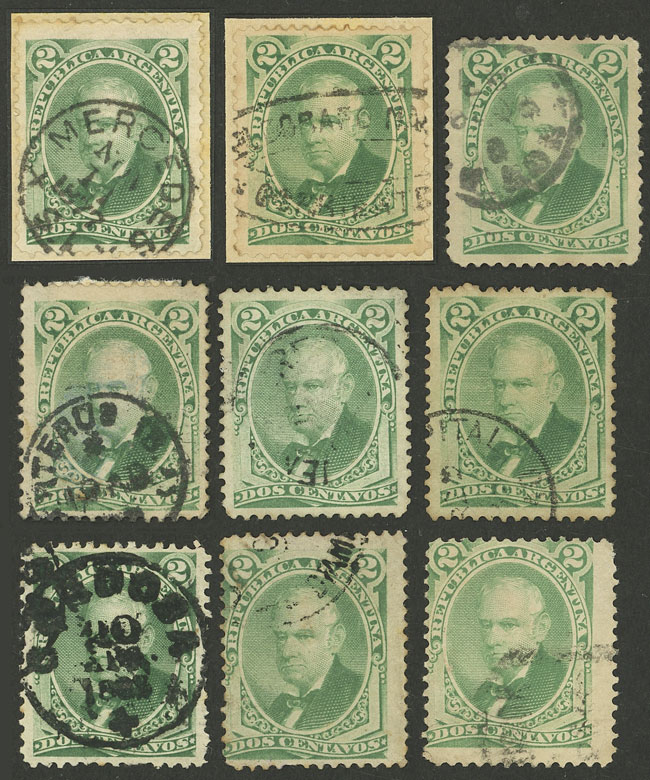 Lot 264 - Argentina general issues -  Guillermo Jalil - Philatino Auction # 2128 ARGENTINA: 'Clearance' auction with very low starts and many interesting lots!