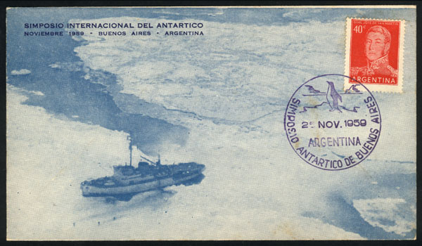 Lot 14 - argentine antarctica postal history -  Guillermo Jalil - Philatino Auction # 2128 ARGENTINA: 'Clearance' auction with very low starts and many interesting lots!