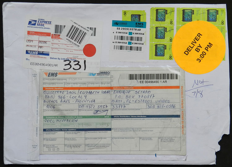 Lot 2204 - Argentina postal history -  Guillermo Jalil - Philatino Auction # 2128 ARGENTINA: 'Clearance' auction with very low starts and many interesting lots!