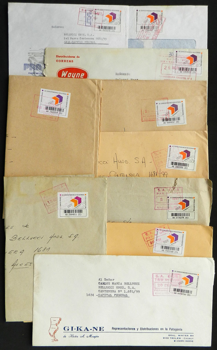 Lot 1973 - Argentina private posts -  Guillermo Jalil - Philatino Auction # 2128 ARGENTINA: 'Clearance' auction with very low starts and many interesting lots!