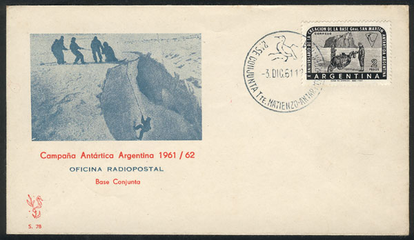 Lot 15 - argentine antarctica postal history -  Guillermo Jalil - Philatino Auction # 2128 ARGENTINA: 'Clearance' auction with very low starts and many interesting lots!