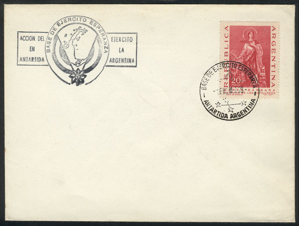 Lot 28 - argentine antarctica postal history -  Guillermo Jalil - Philatino Auction # 2128 ARGENTINA: 'Clearance' auction with very low starts and many interesting lots!