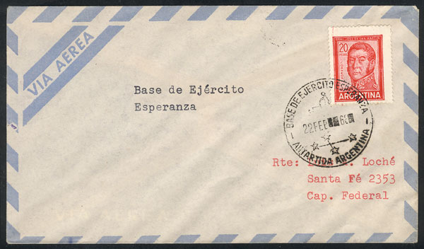 Lot 24 - argentine antarctica postal history -  Guillermo Jalil - Philatino Auction # 2128 ARGENTINA: 'Clearance' auction with very low starts and many interesting lots!
