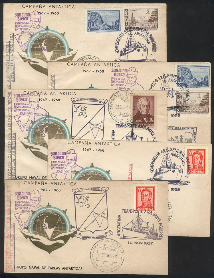 Lot 21 - argentine antarctica postal history -  Guillermo Jalil - Philatino Auction # 2128 ARGENTINA: 'Clearance' auction with very low starts and many interesting lots!