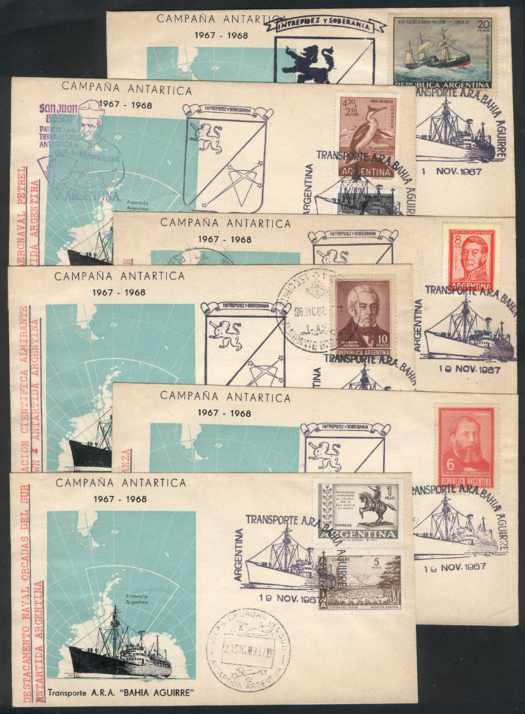 Lot 22 - argentine antarctica postal history -  Guillermo Jalil - Philatino Auction # 2128 ARGENTINA: 'Clearance' auction with very low starts and many interesting lots!