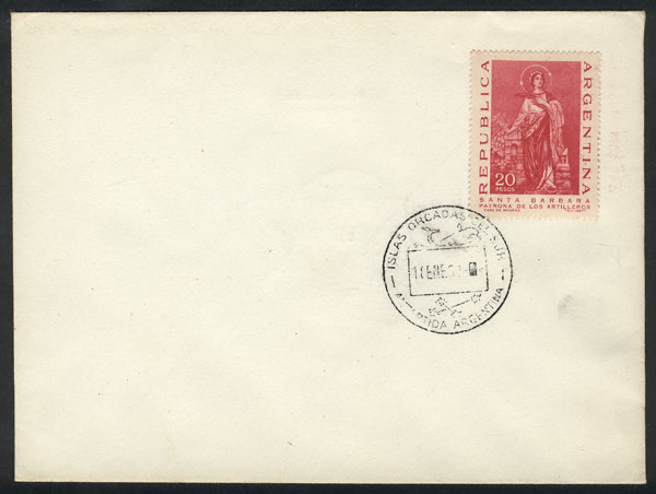 Lot 58 - ARGENTINE ANTARCTICA (SOUTH ORKNEYS) postal history -  Guillermo Jalil - Philatino Auction # 2128 ARGENTINA: 'Clearance' auction with very low starts and many interesting lots!