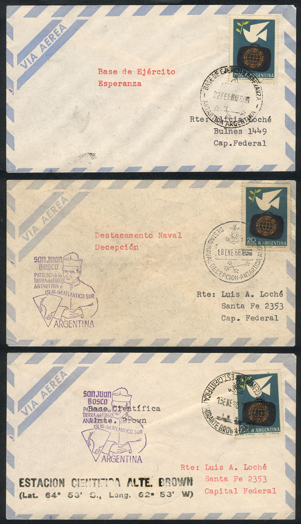 Lot 23 - argentine antarctica postal history -  Guillermo Jalil - Philatino Auction # 2128 ARGENTINA: 'Clearance' auction with very low starts and many interesting lots!