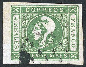 Lot 12 - Argentina cabecitas -  Guillermo Jalil - Philatino Auction # 2129 ARGENTINA: August special auction