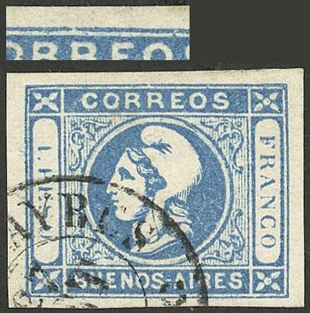 Lot 14 - Argentina cabecitas -  Guillermo Jalil - Philatino Auction # 2129 ARGENTINA: August special auction