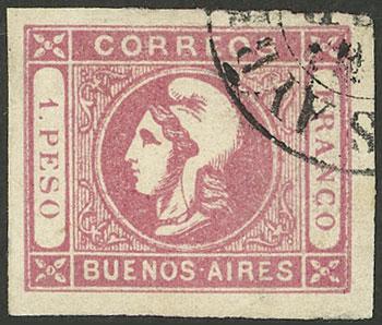 Lot 16 - Argentina cabecitas -  Guillermo Jalil - Philatino Auction # 2129