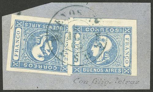 Lot 17 - Argentina cabecitas -  Guillermo Jalil - Philatino Auction # 2129