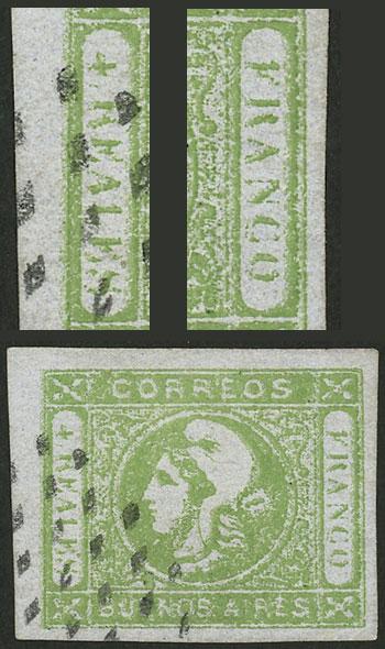 Lot 13 - Argentina cabecitas -  Guillermo Jalil - Philatino Auction # 2129