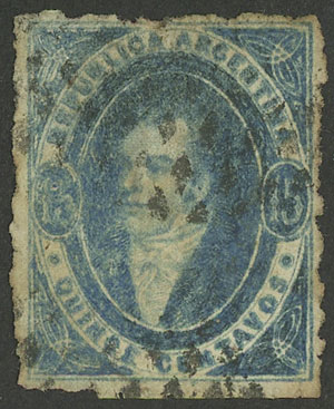 Lot 48 - Argentina rivadavias -  Guillermo Jalil - Philatino Auction # 2130 ARGENTINA: