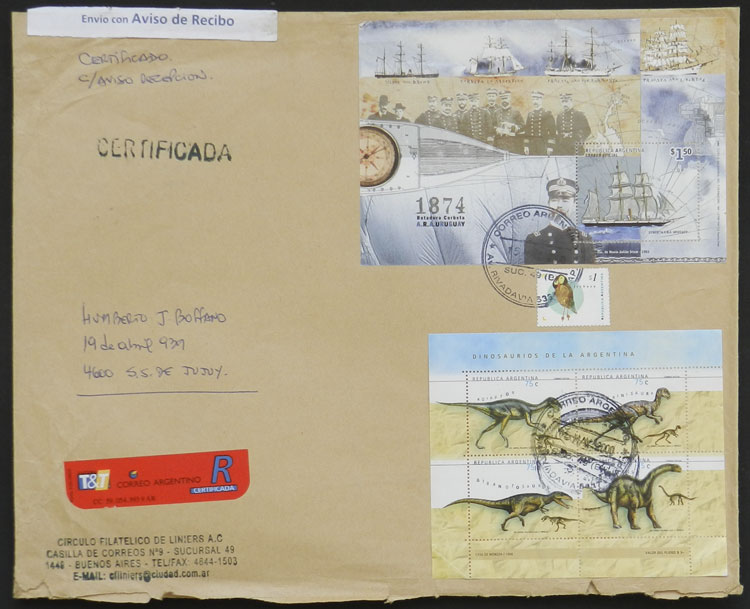 Lot 997 - Argentina postal history -  Guillermo Jalil - Philatino Auction # 2130 ARGENTINA: