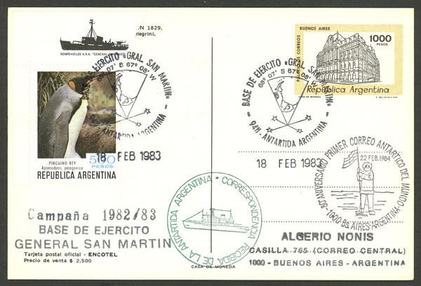 Lot 6 - argentine antarctica postal history -  Guillermo Jalil - Philatino Auction # 2130 ARGENTINA: