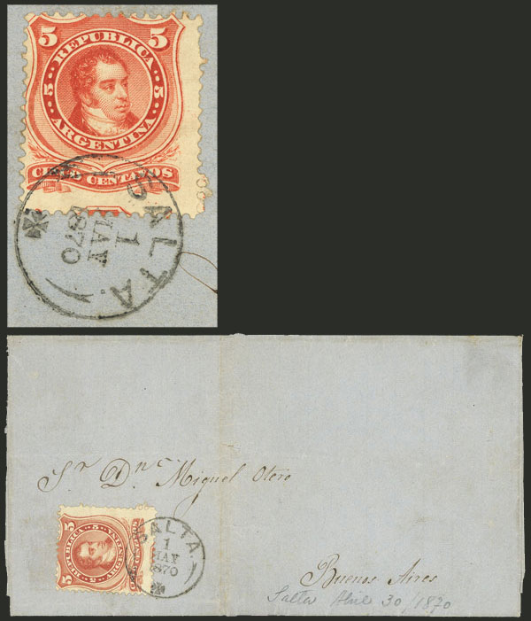 Lot 76 - Argentina general issues -  Guillermo Jalil - Philatino Auction # 2130 ARGENTINA: