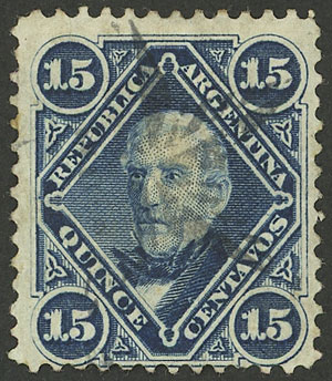 Lot 95 - Argentina general issues -  Guillermo Jalil - Philatino Auction # 2130 ARGENTINA: