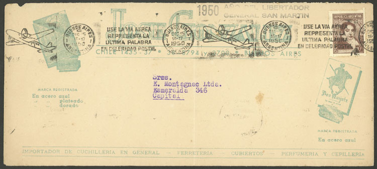Lot 962 - Argentina postal history -  Guillermo Jalil - Philatino Auction # 2130 ARGENTINA: