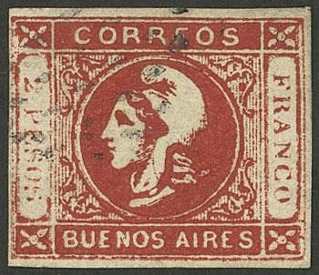 Lot 16 - Argentina cabecitas -  Guillermo Jalil - Philatino Auction # 2130 ARGENTINA: