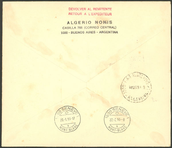 Lot 994 - Argentina postal history -  Guillermo Jalil - Philatino Auction # 2130 ARGENTINA: