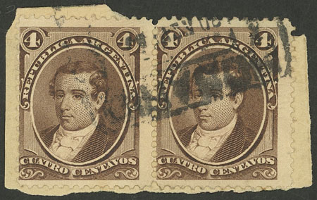 Lot 71 - Argentina general issues -  Guillermo Jalil - Philatino Auction # 2130 ARGENTINA: