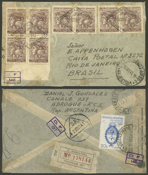 Lot 958 - Argentina postal history -  Guillermo Jalil - Philatino Auction # 2130 ARGENTINA: