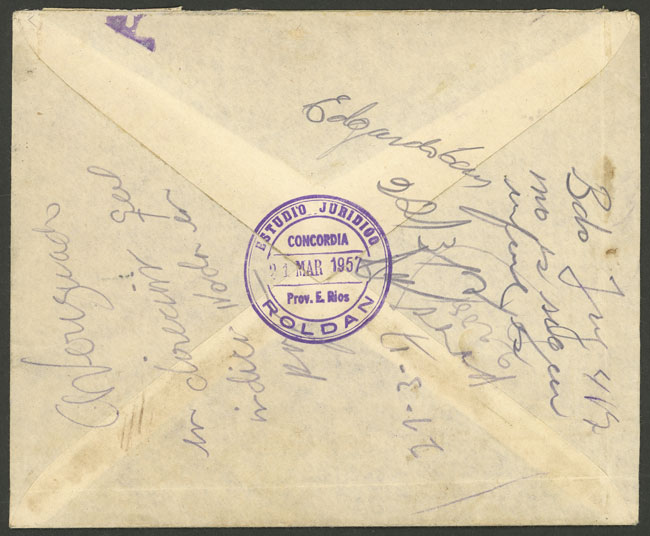 Lot 967 - Argentina postal history -  Guillermo Jalil - Philatino Auction # 2130 ARGENTINA: