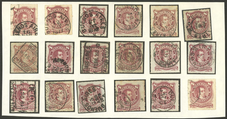 Lot 106 - Argentina general issues -  Guillermo Jalil - Philatino Auction # 2130 ARGENTINA: