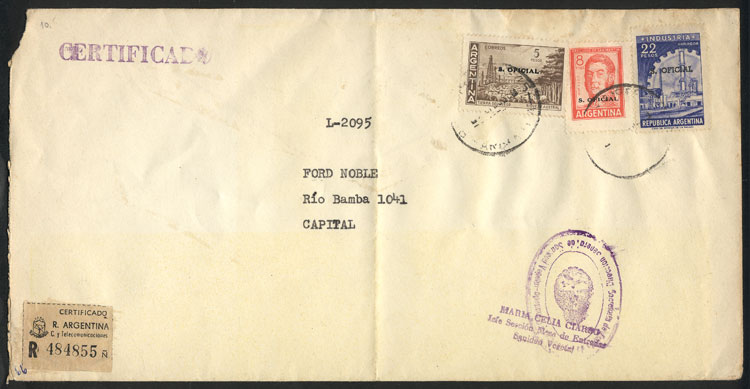 Lot 976 - Argentina postal history -  Guillermo Jalil - Philatino Auction # 2130 ARGENTINA:
