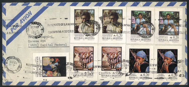 Lot 986 - Argentina postal history -  Guillermo Jalil - Philatino Auction # 2130 ARGENTINA: