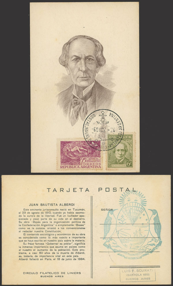 Lot 4 - argentine antarctica postal history -  Guillermo Jalil - Philatino Auction # 2134 ARGENTINA: Fun auction including rarities of all periods