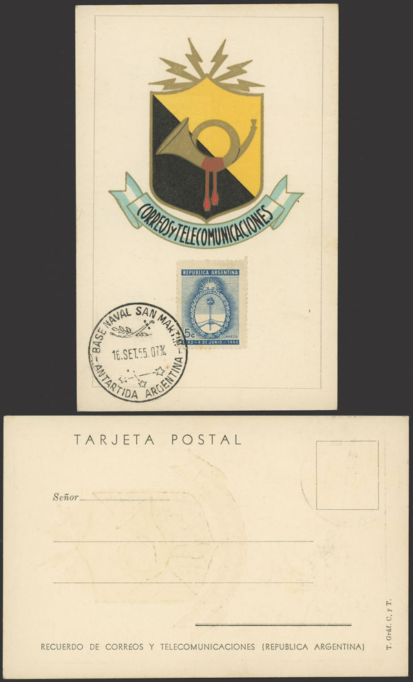 Lot 6 - argentine antarctica postal history -  Guillermo Jalil - Philatino Auction # 2134 ARGENTINA: Fun auction including rarities of all periods