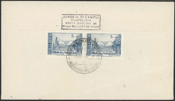 Lot 10 - argentine antarctica postal history -  Guillermo Jalil - Philatino Auction # 2134 ARGENTINA: Fun auction including rarities of all periods