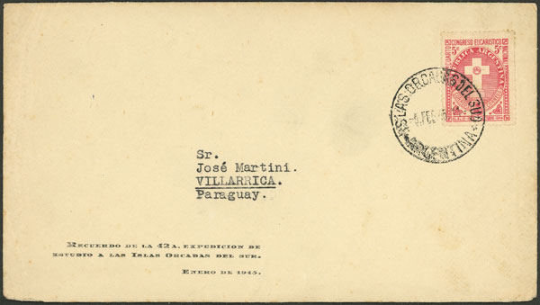 Lot 2 - argentine antarctica postal history -  Guillermo Jalil - Philatino Auction # 2134 ARGENTINA: Fun auction including rarities of all periods
