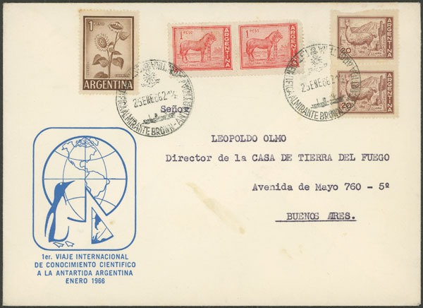 Lot 9 - argentine antarctica postal history -  Guillermo Jalil - Philatino Auction # 2134 ARGENTINA: Fun auction including rarities of all periods