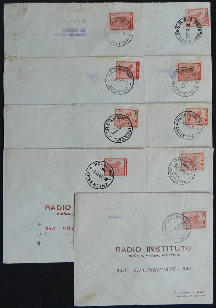 Lot 1847 - Argentina postal history -  Guillermo Jalil - Philatino Auction # 2134 ARGENTINA: Fun auction including rarities of all periods